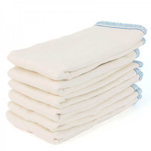 6 pk cotton prefolds