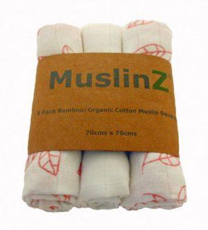 Muzlinz Bamboo Cotton 3pk