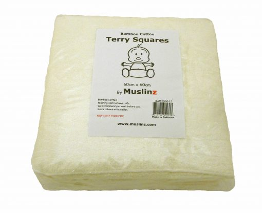 Bamboo Terry Squares 60cm