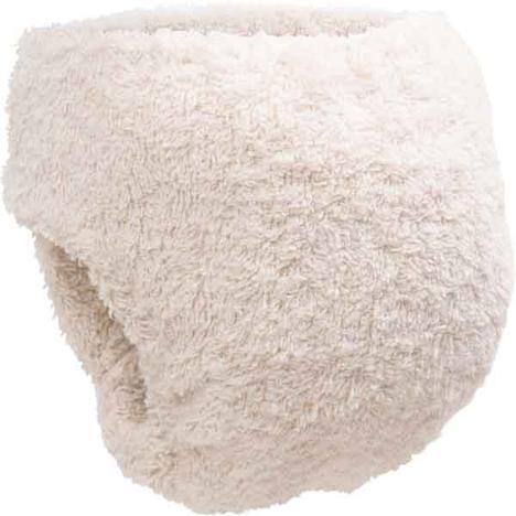back of Little Lamb Organic Cotton shaped nappy
