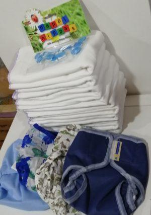 Prefold Nappy Starter Kit – Newborn /Older Baby