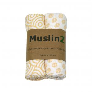 Bamboo & Organic Cotton Large Muslinz