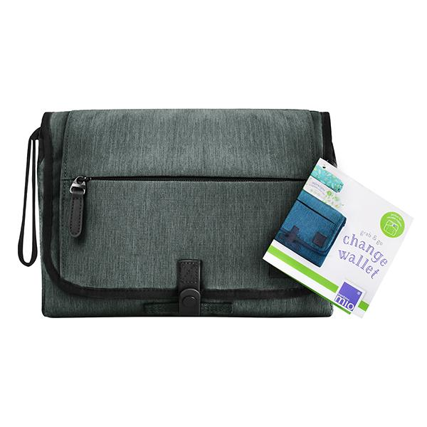 Grab and go changing wallet mat
