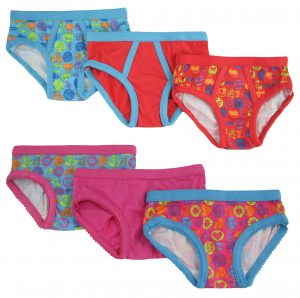 Bright Bots 6 pack Boys & Girls Undies